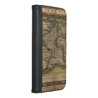 Vintage World Map Atlas Historical Design iPhone 6/6s Plus Wallet Case