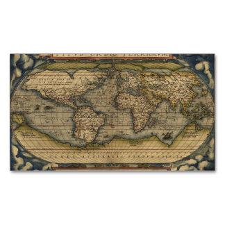 Vintage World Map Atlas Historical Design Magnetic Business Cards
