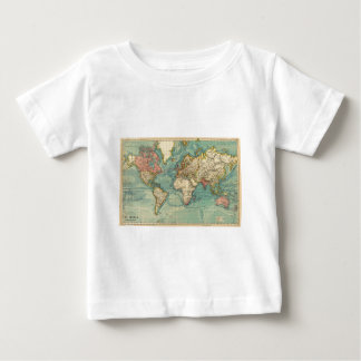 Vintage World Map Baby T-Shirt