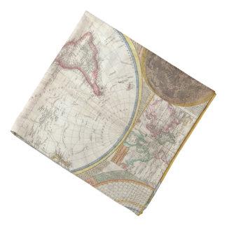 Vintage World Map Bandana