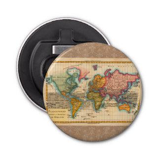 Vintage World Map Bottle Opener