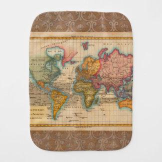 Vintage World Map Burp Cloth