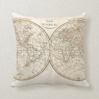 Vintage World Map Cushion