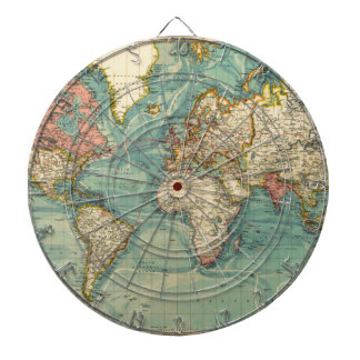 Vintage World Map Dartboard