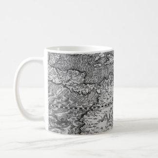 Vintage World Map Detail Basic White Mug