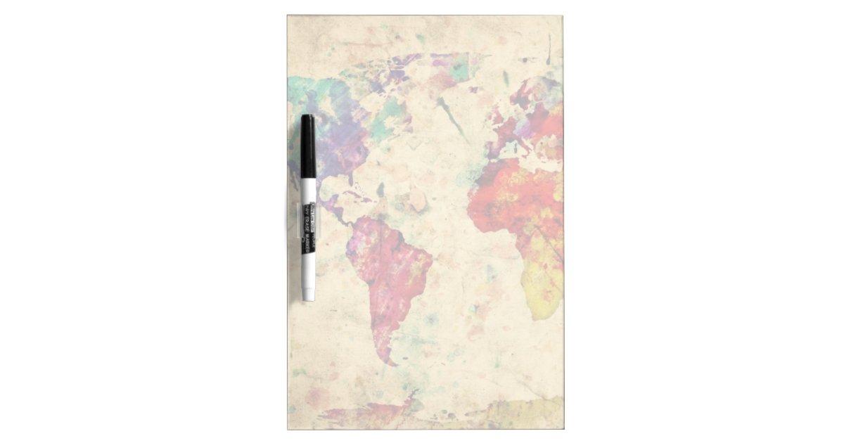Vintage world map dry erase whiteboards Zazzle