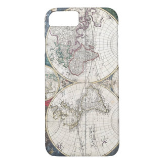 Vintage World Map Earth Globe iPhone 8/7 Cases