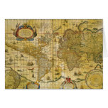 Vintage World Map Greeting Card