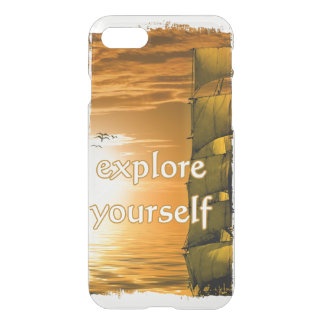 vintage world map inspirational quote iPhone 8/7 case