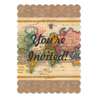 Vintage World Map Cards