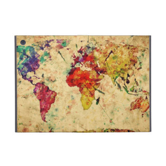 Vintage world map case for iPad mini