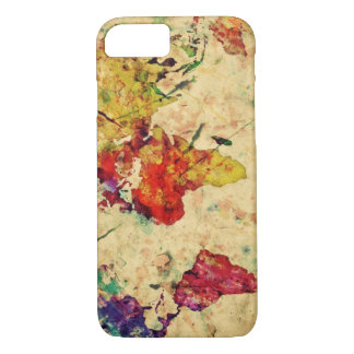Vintage world map iPhone 7 case