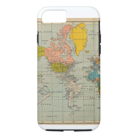 Vintage world map iphone case zazzle vintage world map iphone case gumiabroncs Gallery