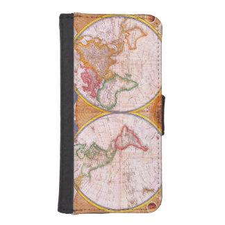 Vintage World Map iPhone SE/5/5s Wallet Case