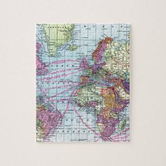 Vintage world map jigsaw puzzles zazzle vintage world map jigsaw puzzle gumiabroncs Image collections