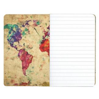 Vintage world map journal
