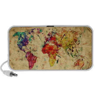Vintage world map mp3 speaker