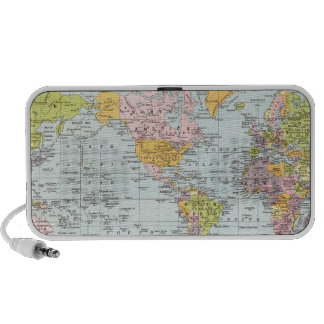 Vintage World Map Mp3 Speakers