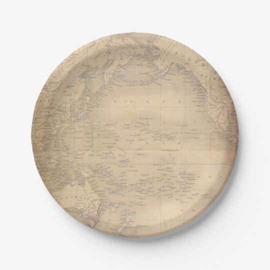 Vintage World Map Old Parchment 7 Inch Paper