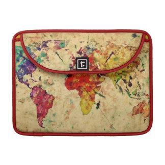Vintage world map sleeve for MacBook pro