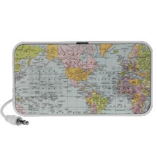 Vintage World Map Speakers