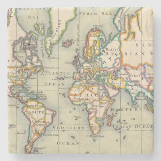 Vintage World Map Stone Coaster