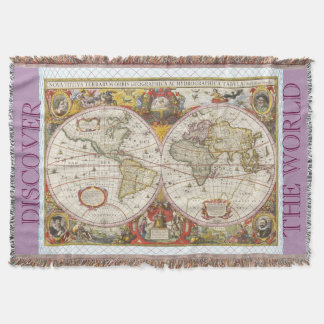 World map blankets bed blankets zazzle vintage world map throw blanket gumiabroncs Image collections