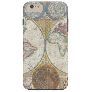 Vintage World Map Tough iPhone 6 Plus Case