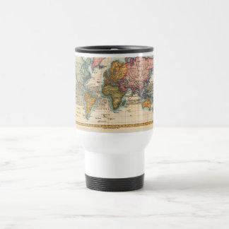Vintage World Map Travel Mug