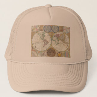 Vintage World Map Trucker Hat