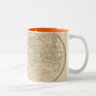 Vintage World Map Two-Tone Coffee Mug