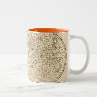 Vintage World Map Two-Tone Mug