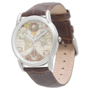World map wrist watches zazzle uk vintage world map watch gumiabroncs Gallery