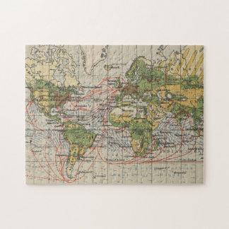 Old world map jigsaw puzzles zazzle vintage world sailing routes map 1914 jigsaw puzzle gumiabroncs Images