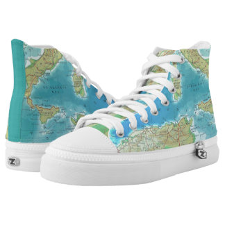 Vintage World Traveler Hi-Top Sneakers