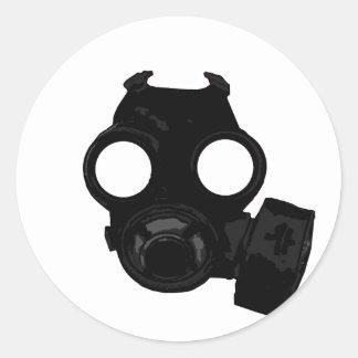 Vintage world war 2 Gasmask design Round Sticker