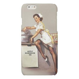 Vintage World War 2 PinUp Nurse Personalized iPhone 6 Plus Case
