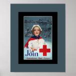 Vintage World War 2 Red Cross Nurse Poster