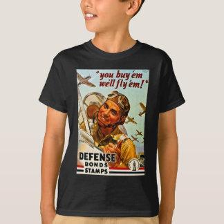 Vintage World War II Defense Bonds Stamps T-Shirt