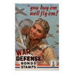 Vintage World War II War Bonds Poster