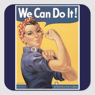 Vintage World War II We Can do it! Stickers