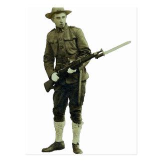 Vintage World War One Doughboy Soldier Postcard