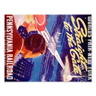 Vintage Worlds Fair New York 1939 Poster Photo Art