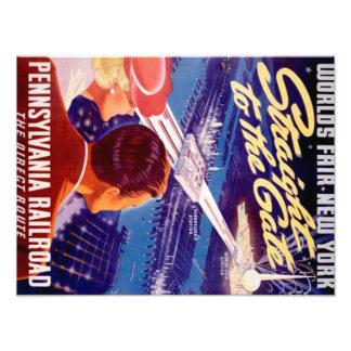 Vintage Worlds Fair New York 1939 Poster Photographic Print