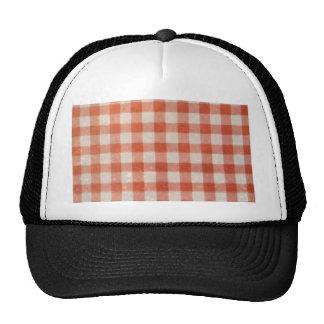 Vintage worn country red white textile pattern fun trucker hat