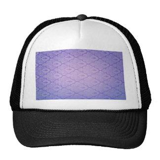 Vintage worn damask purple nouveau style chic fun mesh hats
