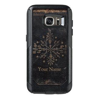 Vintage Worn Fleur-de-lis Book Cover OtterBox Samsung Galaxy S7 Case