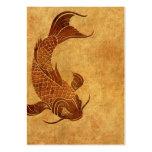 Vintage Worn Koi Fish Design
