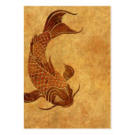 Vintage Worn Koi Fish Design Pack Of Chubby Business Cards