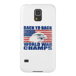 Vintage Worn World War Champs Eagle & US Flag Cases For Galaxy S5